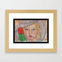 An angel Framed Art Print