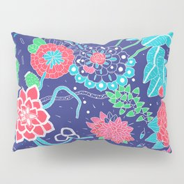 Flowers and Cactus Pillow Sham