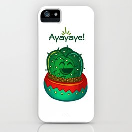 Ayayaye Cactus Tiny iPhone Case