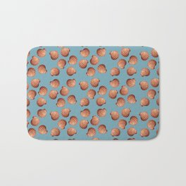 Light Blue Small Clams Illustration pattern Bath Mat