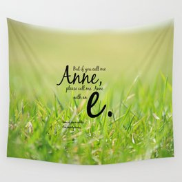 Anne with an E Wall Tapestry