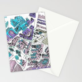 Nicosia old map Stationery Cards