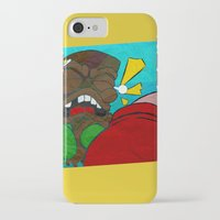 boxing iPhone & iPod Cases featuring Tiki Boxing by TEMOANA
