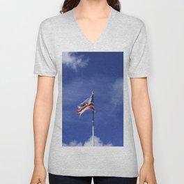 Old flag of america Unisex V-Neck