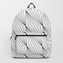 Abstract Line Pattern, Line Art Backpack
