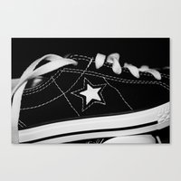 shoe Canvas Prints featuring shoe by KimberlySS
