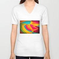 magnolia V-neck T-shirts featuring magnolia by Julia Tomova