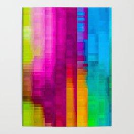 Vertical Rainbow Color Palette Poster