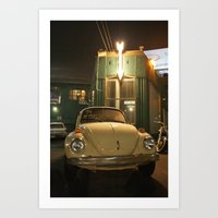 volkswagon Art Prints featuring Beetlebum by Jeremy Hammett