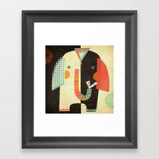 ELEPHANT FRONT Framed Art Print