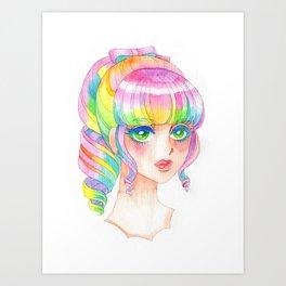 A Rainbow Doll 0824 Art Print