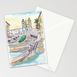 Rome Italy Piazza Spagna with Spanish Steps Stationery Cards