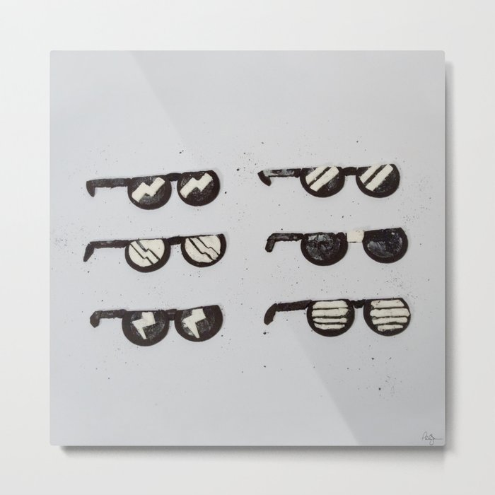 Oreo Sunglasses Metal Print