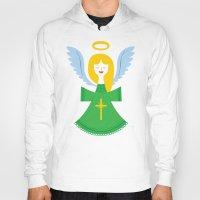 angel Hoodies featuring Angel by Wharton
