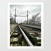 The Iron Rails Art Print
