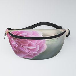 Lady in pink - Pink romantic rose at Backlight - roses flowers Fanny Pack