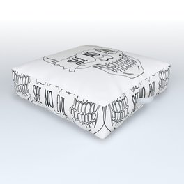 See No Evil Outdoor Floor Cushion