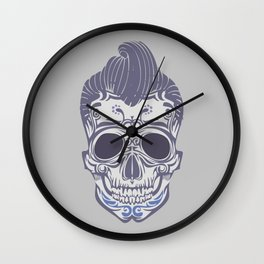 Skull of the sixties Wall Clock