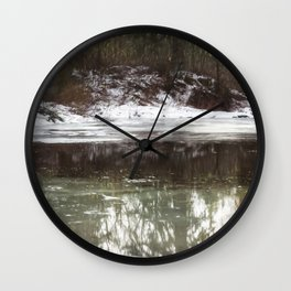 Icy Reflections Wall Clock
