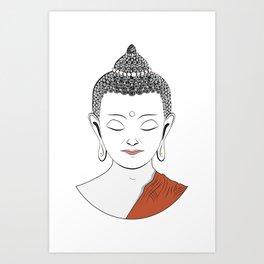 Life of Buddha Art Print