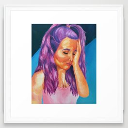 hues of purple Framed Art Print