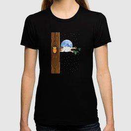 Sleeping on tree T-shirt