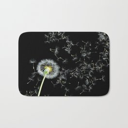 Blowing in the Wind Dandelion, Scanography Bath Mat