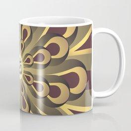 Om Mandala, Purple and Gold Fractal, Spiritual Gift, Yoga Lifestyle Coffee Mug