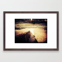 Flow with it Framed Art Print