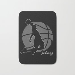 Basketball Player (monochrome) Bath Mat