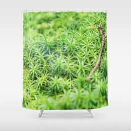 Forest of moss Shower Curtain