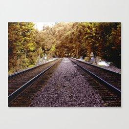 Seattle Train Tracks Canvas Print