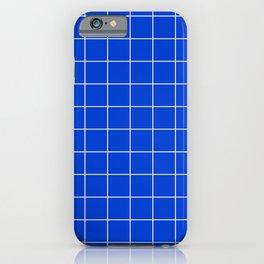 Grid Pattern Bright Cobalt Blue 003DCE Stripe Line Minimal Stripes Lines Spring Summer iPhone Case