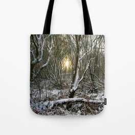 Snowy morning Tote Bag