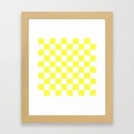 Cheerful Yellow Checkerboard Pattern Framed Art Print