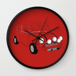 The Italian Job Red Mini Cooper Wall Clock