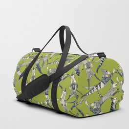 dog party indigo citron Duffle Bag