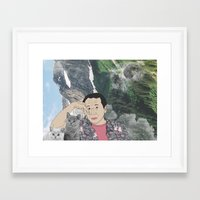 murakami Framed Art Prints featuring HARUKI MURAKAMI by Lucas Eme A
