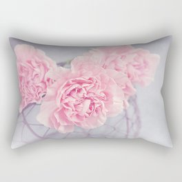 Pale Pink Carnations Rectangular Pillow