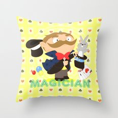 Magician Throw Pillow