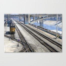 Train Yard along the LA River Canvas Print