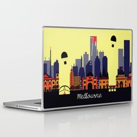 melbourne Laptop & iPad Skins featuring Lovely Melbourne by Jollybird Designs