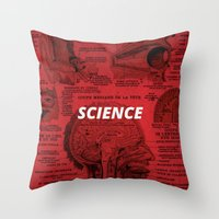 science Throw Pillows featuring Science by dreamshade