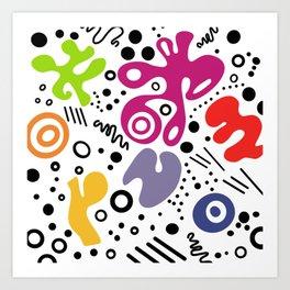 Doodle pop Art Print