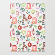 Cozy Christmas Pattern Canvas Print
