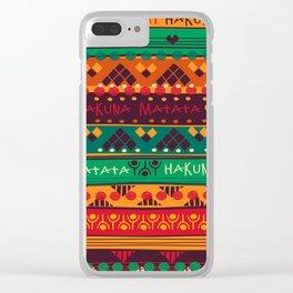 Hakuna Matata Boho Pattern Clear iPhone Case