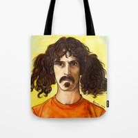 zappa Tote Bags featuring Frank Zappa by IamDeirdre