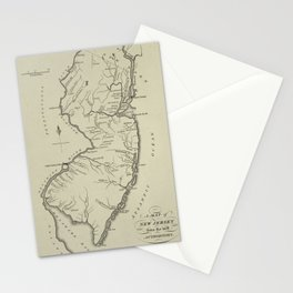 Vintage Map of New Jersey (1794) Stationery Cards