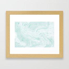 Seaforam Marble Print Framed Art Print