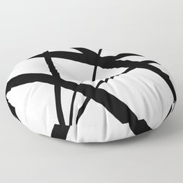 A Harmony of Lines and Shapes Floor Pillow